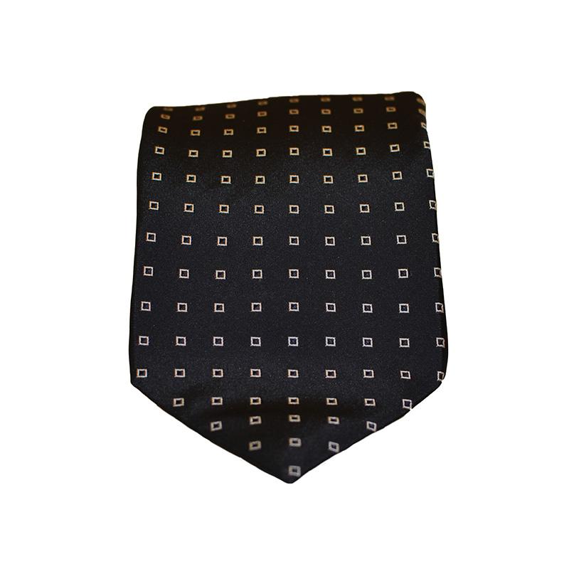 Cravatta seta blu quadri