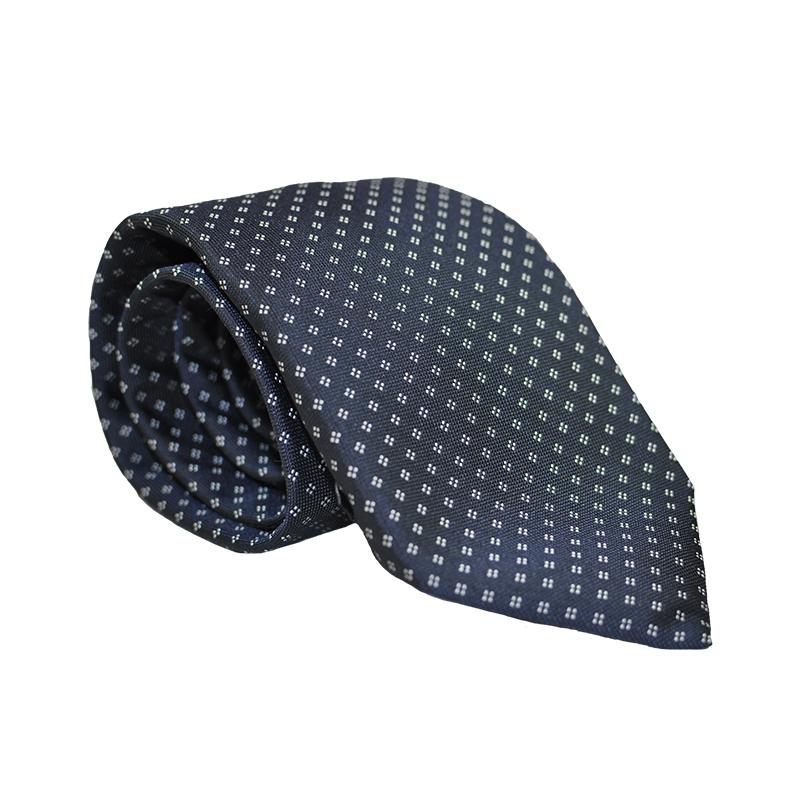 Cravatta seta blu fantasia