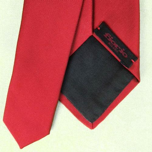 Cravatta Rosso motivi obliqui
