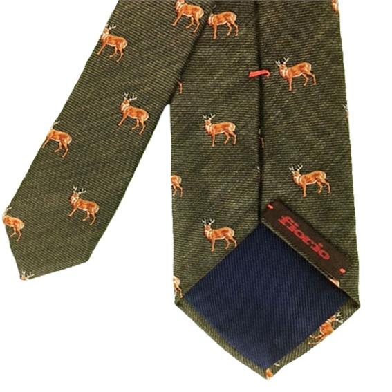 Cravatta Verde con cervi