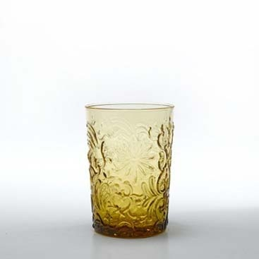 Set 6 bicchieri Barocco rock ambra