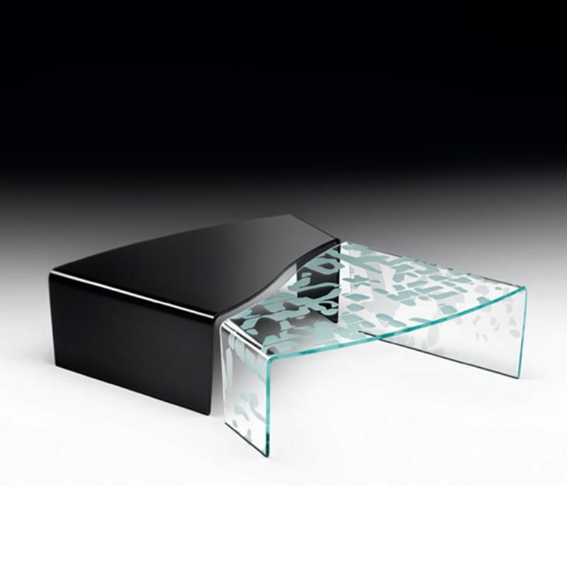 Tavolino virgola nero